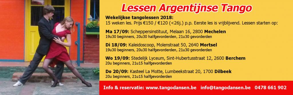 Tango Antwerpen, Mechelen, Mortsel & Dilbeek