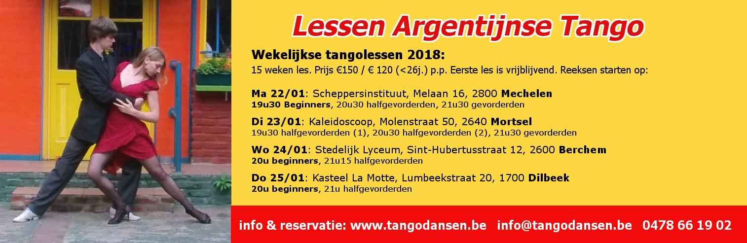 Tangolessen Antwerpen Dilbeek Mortsel Mechelen