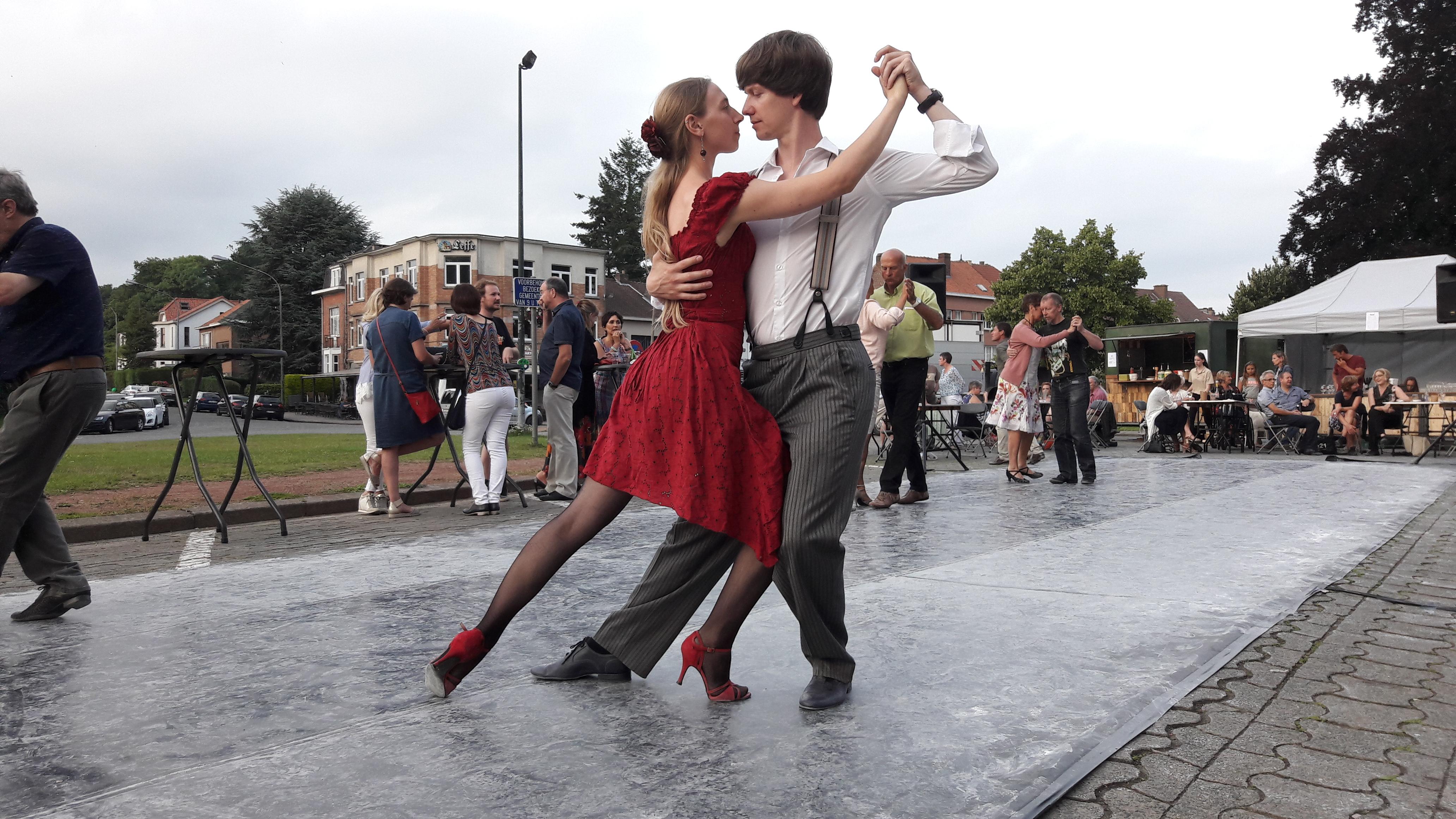Tango open lucht evenement Dilbeek 2017